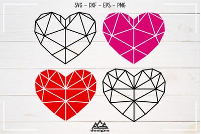 Heart Love Geometric Shape Svg Design