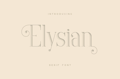 Elysian - serif font