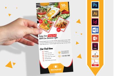 Rack Card   Restaurant DL Flyer Vol-02