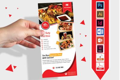 Rack Card   Restaurant DL Flyer Vol-03