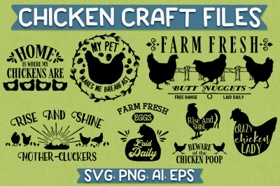 Chicken SVG Craft Files