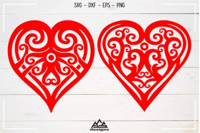 Love Heart Tribal art Svg Design
