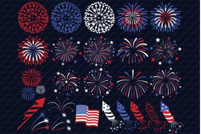 Fireworks SVG, 4th of July Svg, Independence Day,  Fireworks Clipart.