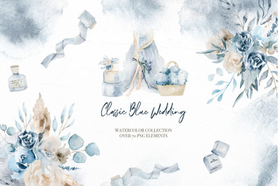 Classic Blue wedding collection