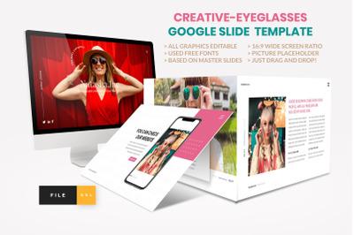 Fashion - Eyeglasses Google Slide Template