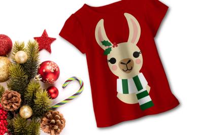 Christmas Llama | SVG | PNG | DXF