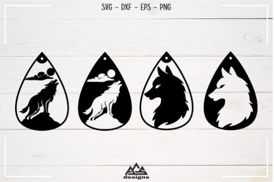 Wolf Earring Svg Design