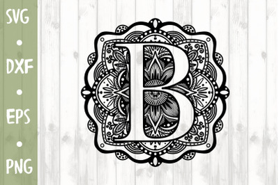Letter B SVG CUT FILE