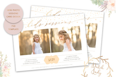PSD Photo Session Card Template #56