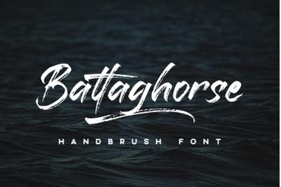 Battaghorse | Handbrush Font
