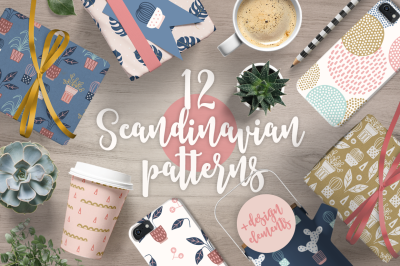 12 Scandinavian Patterns & 30 Elements