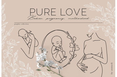 Pure Love. Line Art Collection