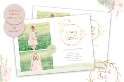 PSD Photo Session Card Template #57