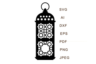 Muslim lantern on ramadan, islamic home decor.