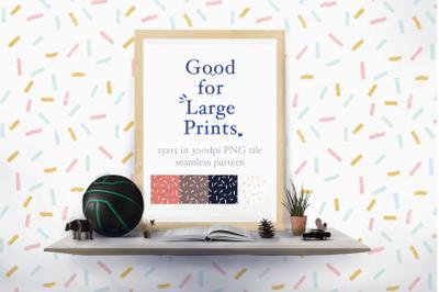 Confetti Sprinkle Seamless Pattern XL printing