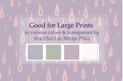 Rain drops Seamless Pattern XL printing