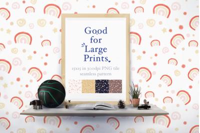 Trendy Rainbows Seamless Pattern XL printing