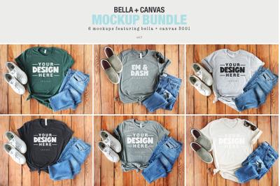 Bella Canvas 3001 T-shirt Mockup Bundle Vol2