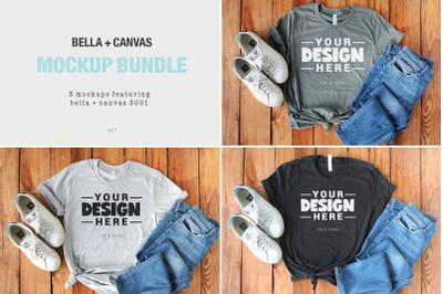 Bella Canvas 3001 Tee Shirt Mockup Bundle Vol1