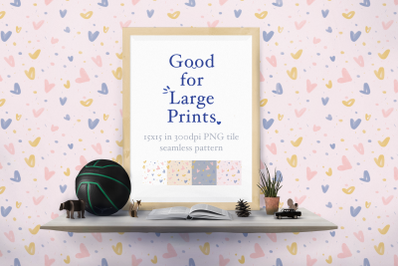 Hearts Seamless Pattern XL printing