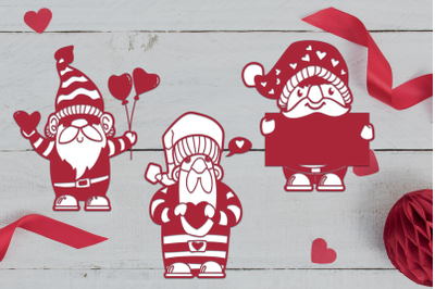 Valentines Gnomes SVG Cuts