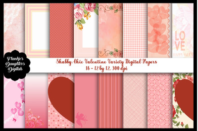 Valentine Shabby Chic Digital Papers