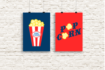 Popcorn Duo | SVG | PNG | DXF