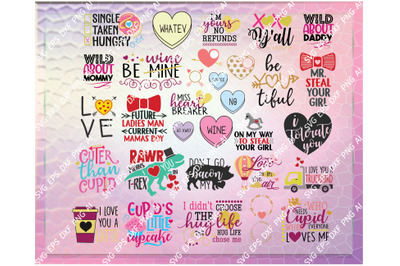 HUGE Valentine's Bundle 35 svg dxf png eps Files for Cutting Machines