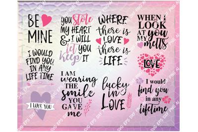 Falling In Love Quotes SVG Cut File Bundle Deal | Cut File for Cricut