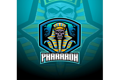 Pharaoh esport mascot logo design