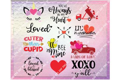 Valentine's bundle svg, valentines day svg, valentines svg, truck svg,