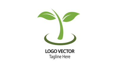 Leaf logo vector