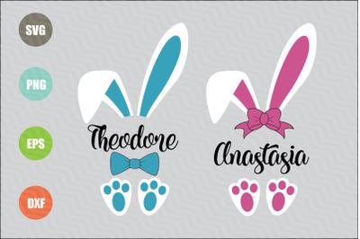 Easter Bunny Monogram SVG Files