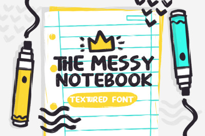 The Messy Notebook - Texture Font