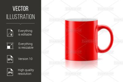 Red mug on white