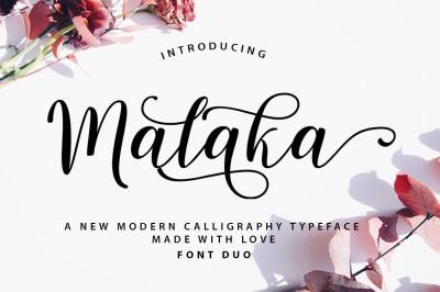 Malaka Script Font Duo