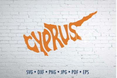 Cyprus Word Art, Cyprus Svg Dxf Eps Png Jpg, Cut file