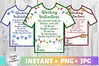 T-Shirt Holiday Care Card Pack, PNG, Print and Cut, 3 Pack!