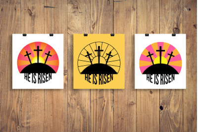Easter Sunrise He Is Risen | SVG | PNG | DXF