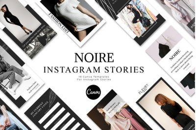 NOIRE - Instagram Story Templates for Canva