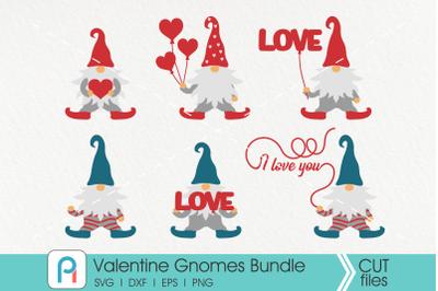 Valentine Gnomes Svg, Gnomes Svg, Cute Gnomes Svg