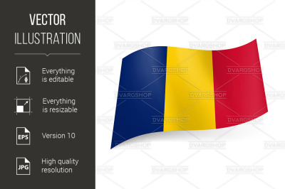 """State flag of Romania."""