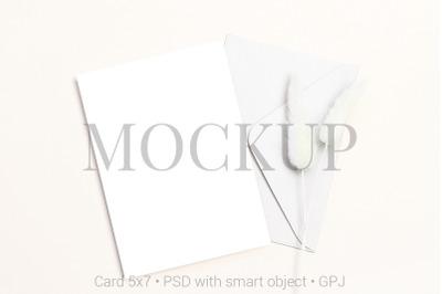 Card mockup with envelope & FREE BONUS