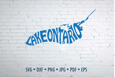 Lake Ontario Word art Svg Dxf Eps Png Jpg, T-shirt Typography overlay