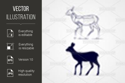"""""""Deer Silhouette"""""""