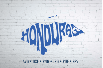 Honduras Word Art, Svg Dxf Eps Png Jpg,  Cut file