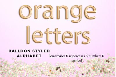 Orange foil balloon alphabet clipart, Orange balloons, Orange Foil alphabet, Orange font
