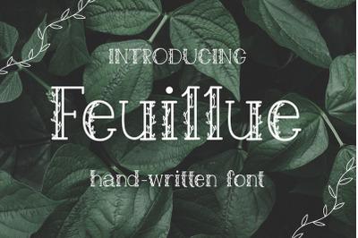 Feuillue | serif font