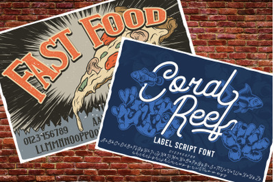 Fast Food + Coral Reef fonts
