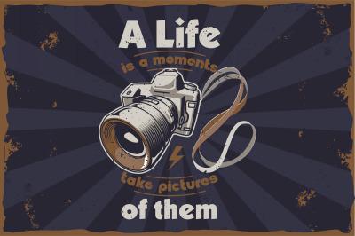 Photographer t shirt illustrations